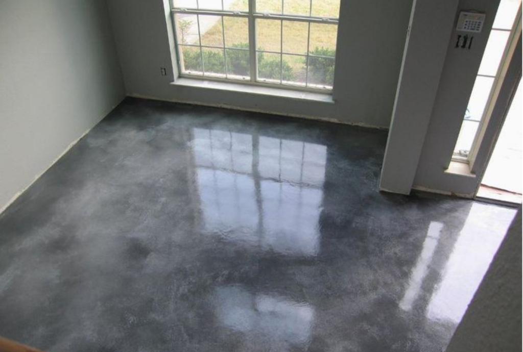 Лакированная бетонная стяжка