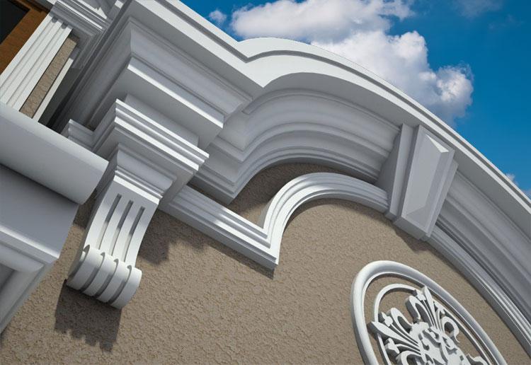 Современный фасадный декор из качественного пенопласта